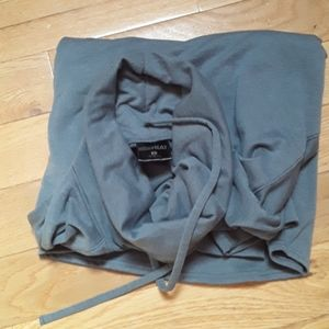 No pockets cowl neck gray sweat top